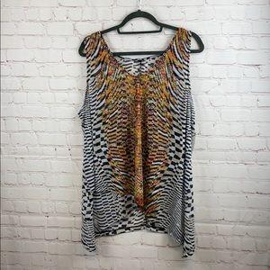 Layne Bryant sheer print tank top shirt
